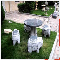 China Factory Cheap Granite Garden Stone Tables And Chairs