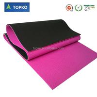 Wholesale eco friendly anti slip pvc yoga mat/yoga mat manufacturer/double color yoga mats