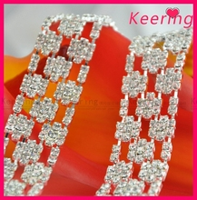 Luxury jewelry fashion decorative rhinestone trim for evening dress WRC-244