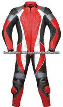 Leather Race Quality Leather Suit Red 1 Piece Style