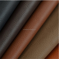 dark deep lichee pu leather for sofa and furniture DH107