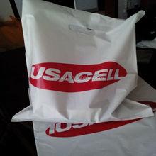 Plastic hdpe shopping bags/high quality die-cut plastic bag
