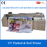 2015 Good Price LED Flatbed and Roll to Roll UV Printer