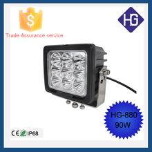Car accessories IP68 spot/flood 90W super bright auto led work light SUV Boat ATV Jeep 4x4WD