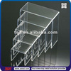 TSD-A632 Custom retail store table top clear acrylic riser stand,acrylic tiered riser,acrylic riser display fixtures