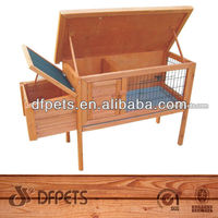 Wooden Single Rabbit Hutch With High Feet for Sale DFR050