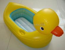 benutzerdefinierte aufblasbaren pool spielzeug ente form aufblasbare schwimmen pool