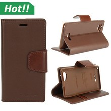 brown MAN sonata classic leather phone case for Sony