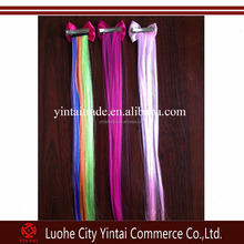 Party synthetic kanekalon hair bowknot clip in hair extensions hairclips to children