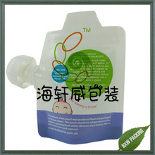 High quality food grade BPA free reusable baby food pouch with spout