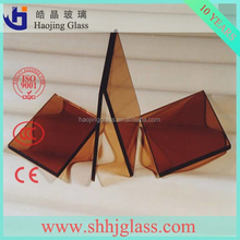 haojing jewelry bule reflective glass float glass price with CE&ISO9001 certificate