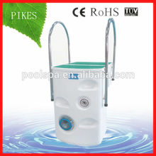 High efficiency wall-hung pipeless swimming pool filter
