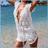 Yihao 2015 Sexy Womens Lace Floral Rompers Deep V Neck Beachwear Jumpsuits Short Pants