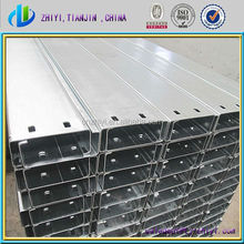 Factory supplier galvanized steel c channel / c channel standard sizes up to the international standard