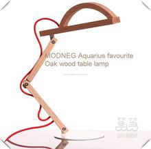 Lampara de mesa ajustable de madera casa decoracion oro lámpara