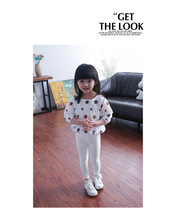 The new children's clothing girls summer flower print comfortable cotton T-shirt Wawa Shan Tong