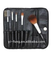 5PCS Makeup Brush Set With Black Cosmetic Bag