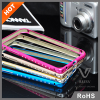 Jules.V brand high quality gorgeous Crystal Metal Bumer Frame Mobile Phone Case For iPhone 6/6 Plus