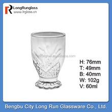LongRun alibaba china 2015 hot new product 60ml short glass,red wine glass without stem wholesale