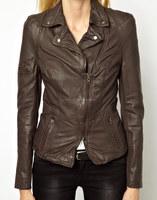 lamb Skin Lyra Biker Jacket Sexy Premium Genuine Leather Jacket - XS S M L XXL XXXL XXXXL