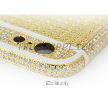 luxury diamond gold plated housing for iphone 6/6 plus