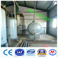 10-ton newestdesign automatic waste tyre pyrolysis oil refining to diesel machine with CE&ISO