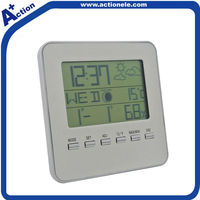 weather station travel alarm clock with led backlight
