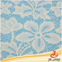 2015 Hottest Pure White African Swiss Voile Stretch Lace, French Jacquard Elastic Lace, Wedding Dress Nylon Lace Fabric