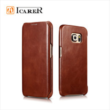 Real Leather For Samsung Galaxy S6 Edge Case Cover