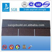 SGB 20-40 Years Brown Wood 3 Tab Shingle Bitumen Roof Tile