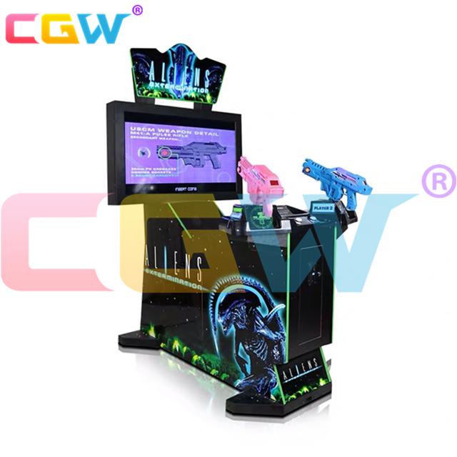 CGW Aliens Shooter Coin Operated Giochi Per Adulti Arcade Giochi di Tiro Pistola Macchina Per Centro Commerciale Centro Gioco