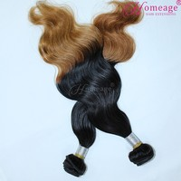 Homeage mix color 1b 613 remy peruvian body wave two tone human hair