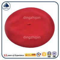 Australian Wool Red plain stables cheap beretS knit ski cap hat