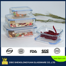 High quality vacuum glass food conainer storage 8pcs set with seal lid