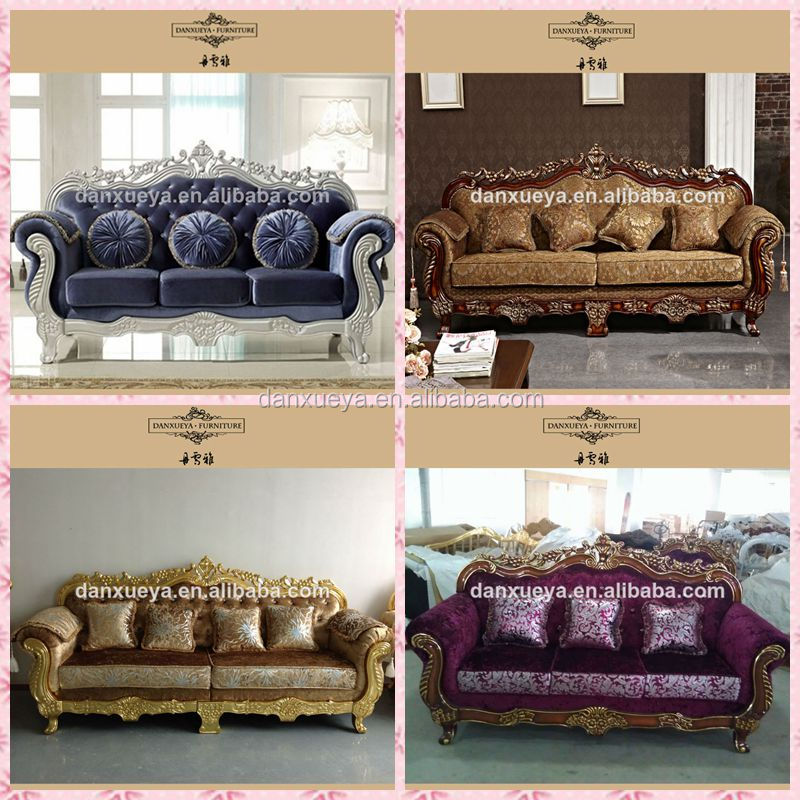 Luxe classique canap rembourr s avec tissu canap salon - Canape classique tissu ...