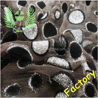 Brown mesh polka dot flocked design black with silver metallic alibaba china wholesale