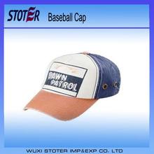 Embroidery baseball cap , man's camo printed cotton baseball cap , cheap promotional fitted 5 panel baseball cap