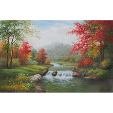 Hot sales modern abstract mountain and water landscape oil painting ,Decorative Picture