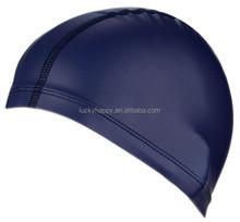 Swimming pool PU Coating ear Protection Swimming Cap