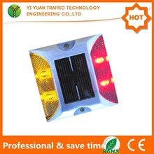 IP68 high brightness led road stud 4 lights solar reflector stud with aluminum cast
