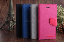mercury goospery canvas diary wallet leather case, tpu cover case for iphone 6s