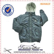 sunnytex 2014 nuovo design abbigliamento invernale bambino ragazzi cappotto giacca