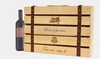 Six Bottle Red wine wooden Box