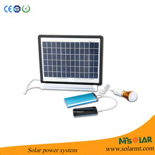 Self installation 3W bulbs mini solar power system with mobile phone charger