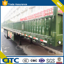 CITC Cheap price 3 axles 60 tons at Max. loading capacity flat bed truck / flat bed trailer / flat bed semi trailer for sale