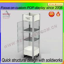 Clear acrylic lockable floor standing display cabinets