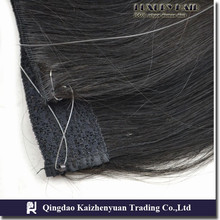 KZY-- 100% brazilian human hair , flip in hair extension,fish wire hair extension