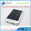 New Dedign 10000mah solar power bank for laptop,cell phone