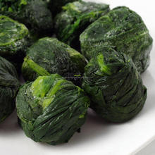 Green Color Spinach Balls Frozen Vegetables IQF Spinach From China