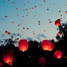 Party favor no flame flying sky lanterns